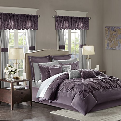 Madison Panel Bed (Joella 24 Piece Room in a Bag Plum Cal King)