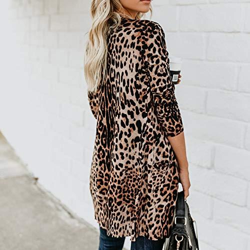 Bringbring Parka Manteau Jacket Outwear Lopard Shirt Blouse Cardigans Marron Imprim Mode T Femme PqxgwaSq
