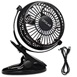 OPOLAR F801 Clip and Table USB Fan, 2 in 1 Applications, Strong Wind, USB ...