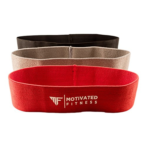 Motivated Fitness Thigh - Hip - Booty Exercise Bands - 3 in...