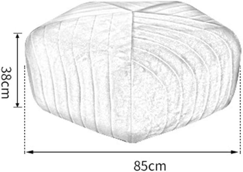 LYN&xxx Fußbank Pouffe Stuhl Bank Schuh Bank Mit Hochelastische Schwamm Füllung, Für Kinder Erwachsene Schlafzimmer Wohnzimmer Büro Fußbank 38 X 85 cm,Orange Gray
