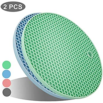 Durable Silicone Heat Resistant Coasters,Tableware Insulation Pad Potholders Insulation Non-Slip Mat,Non Slip Amlrt Round Mat 4 Pack Perfect for Modern Home Decor red Flexible Heat Resistant