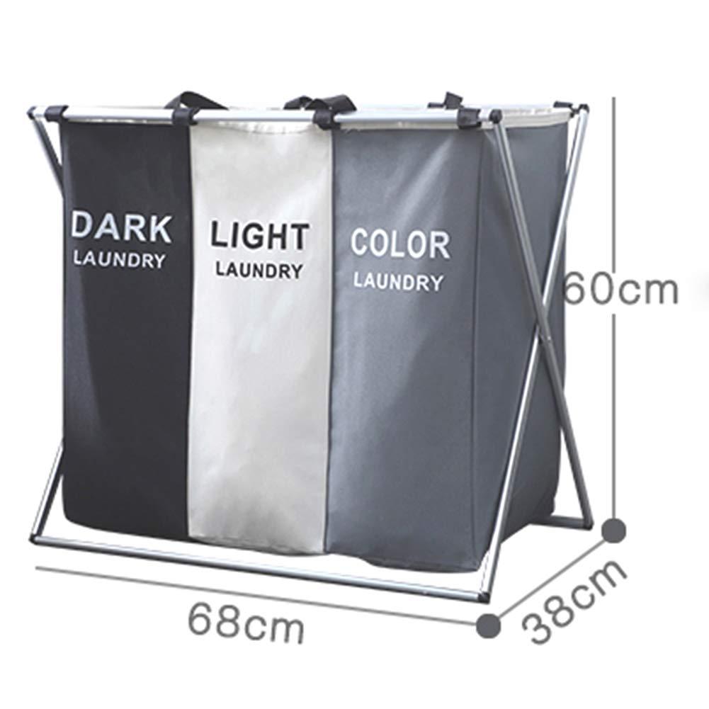 53295a942 Bolsa de Lavado Plegable Color : White+Black+Gray canasto de lavandería de  Tela Cestas ...