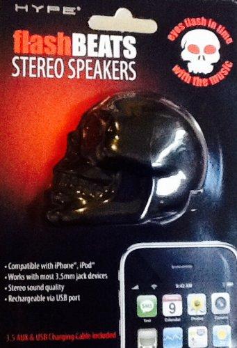 Hype Black Flashbeats Stereo Skull Speaker (Halloween Raffles)