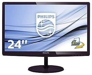 """Philips Monitores 247E6LDAD/00 - Monitor de 24"""" (resolución 1920 x 1080 Pixels, tecnología WLED, Contraste 1000:1, 1 ms, VGA), Color Cerezo Negro"""