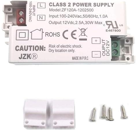 Yafido LED Transformador 220V a 12V Trafo 30W 2.5A LED Driver Fuente de Alimentaci/ón para Bajo Voltaje Bombillas G4 MR16 GU5.3 MR11