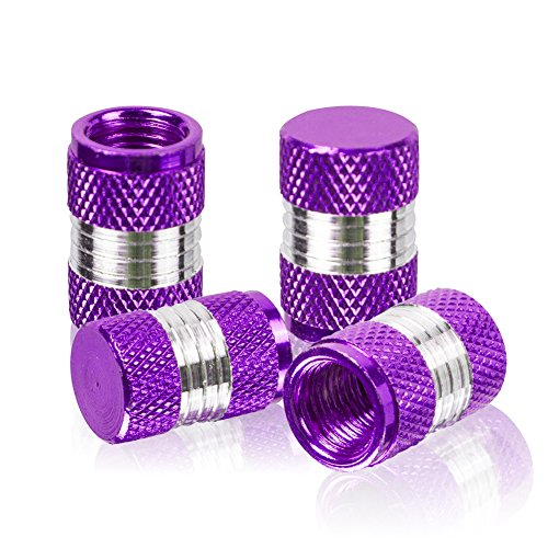 runmade Connecting Rods Style Polished Aluminum Alloy Chrome Tire Valve Stem Caps (Pack of 4) -