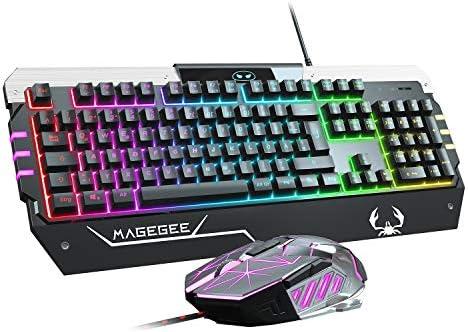 Anivia Conjunto de teclado y ratón USB RGB Gaming GT817 104 teclas arcoíris y ratón Set de teclado y ratón gaming, teclado de ordenador, cable USB ...