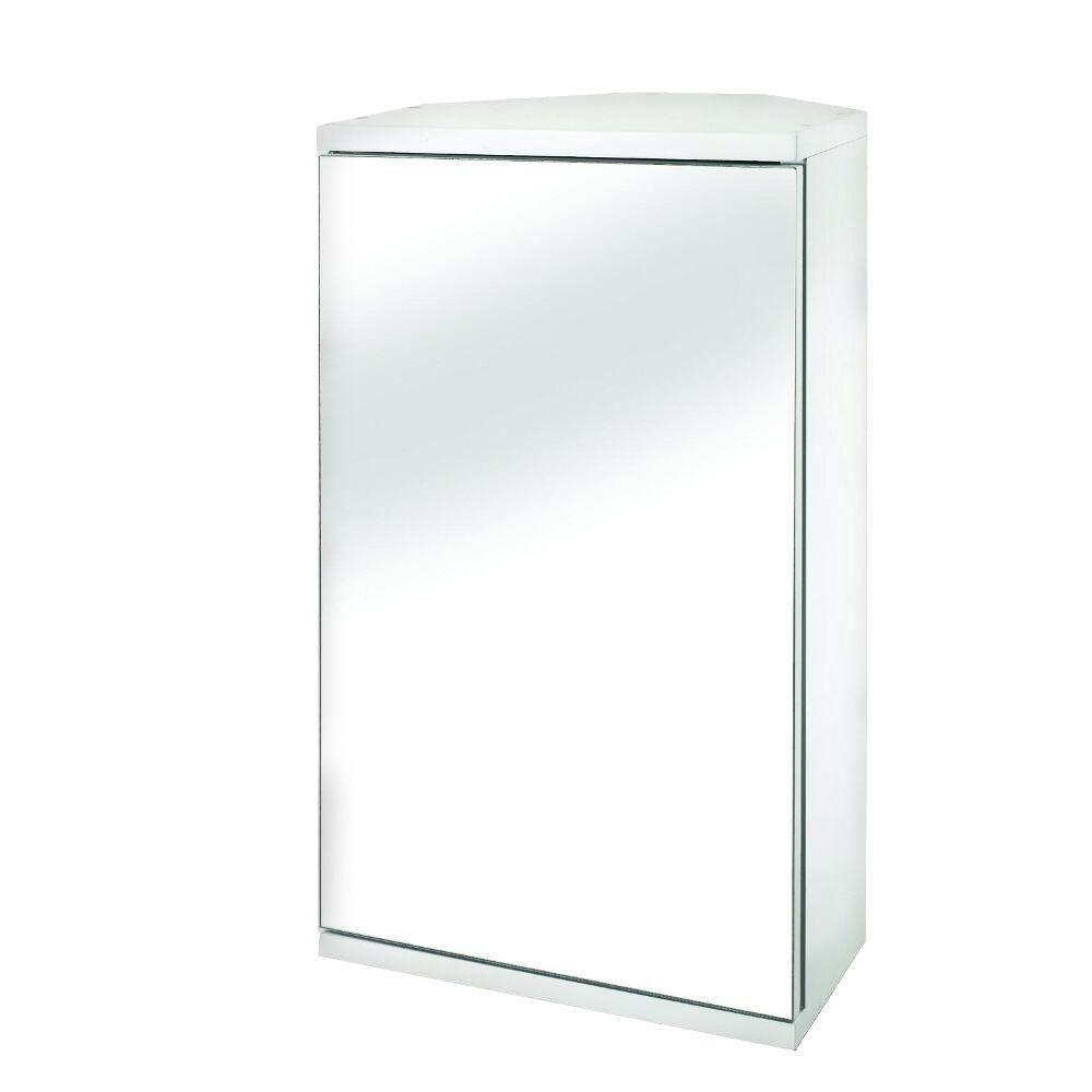 Croydex Simplicity MDF single Door Mirrored Corner Medicine Cabinet ...