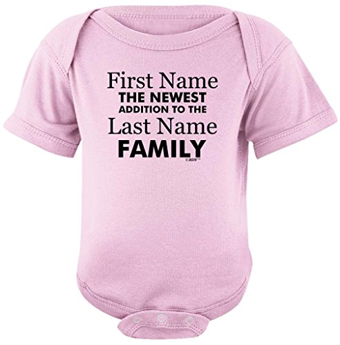 Personalized Baby Gifts Personalized New Baby Name Family Custom Bodysuit 6 Months Pink