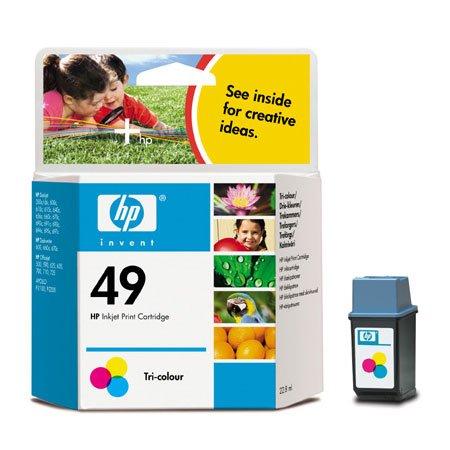 Hewlett Packard 51649A OEM Ink - HP 49 Tri-Color Original Ink Cartridge (350 Yield)