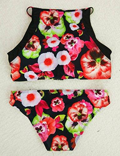 En Bikini Retro Floral Split de mujeres