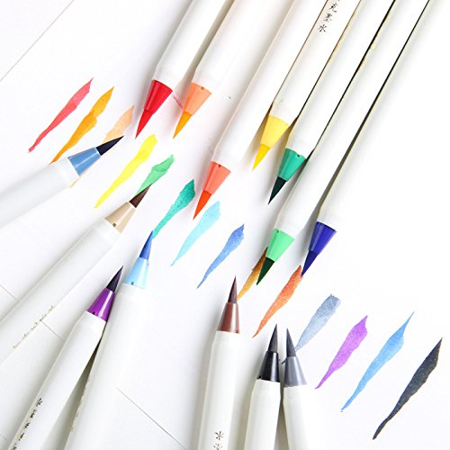 Set Colorful Calligraphy Pen Soft Brush Marker Watercolor Marker Pen DIY Graffiti Manga Drawing Marker by Office & School Supplies YingYing (Image #1)
