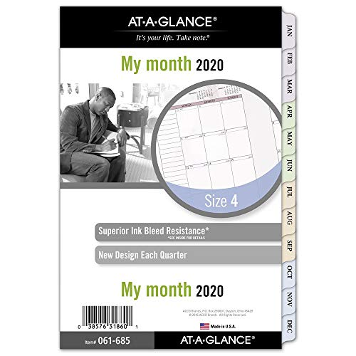 - AT-A-GLANCE 2020 Monthly Planner Refill, Day Runner, 5-1/2