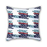 NICEPLW pillowcase 20 x 20 inches / 50 by 50 cm(two sides) nice choice for adults,teens,car,indoor,coffee house,kids boys geometry