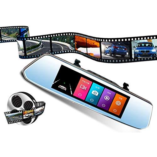 Finedayqi  K703T4.3'' HD Dual Lens Car DVR Dash Front and Rear Mirror Camera Video Recorder