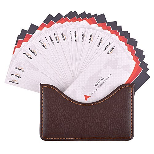 Maxgear leather business card holder case for men or women name card maxgear leather business card holder case for men or women name card case holder with magnetic shut coffee holds 25 business cards pu leather moon coffee colourmoves