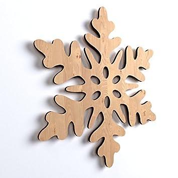 10x Schneeflocke Weihnachten Weihnachtsschmuck Holz Basteln Bemalen Hängedekoweihnachtsbaum Winterdeko
