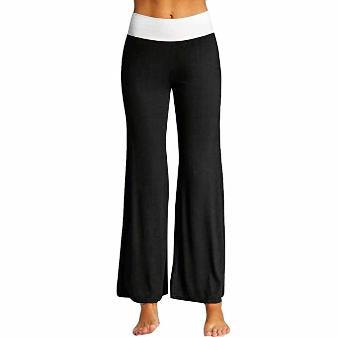 1c661d6e8cfdd6 Italily Moda Tasca Donna Ghette Pantaloni Yoga Sport Stampare Casuale  Pantaloni,Donne Coulisse Gamba Larga