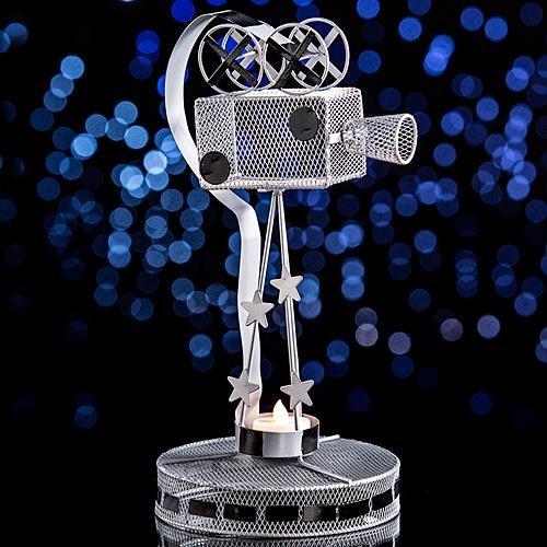 Movie Camera Metal Centerpiece