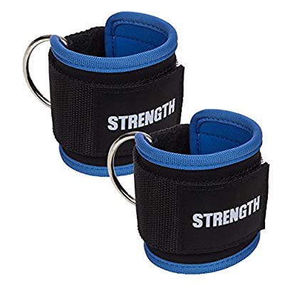 Strength Ankle Straps (Pair of Two Ankle Strap) for Cable Machines Leg Straps Gym Exercise - Butt, Hip, Ab Workout