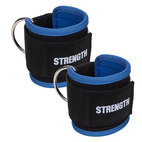 TWO NOT ONE Ankle Straps for Cable Machines Leg Straps Gym Exercise - Butt, Hip, & Ab Workout by STRENGTH