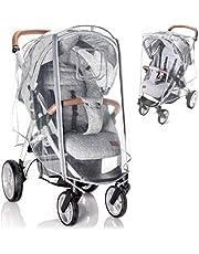 Zamboo universal buggy regnskydd med låsbart fönster - regnskydd barnvagn med dubbel dragkedja för att öppna - transparent, föroreningsfritt