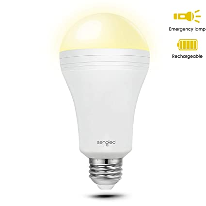 Sengled Everbright emergencia bombilla LED con batería recargable de copia de seguridad integrado, proporciona luz