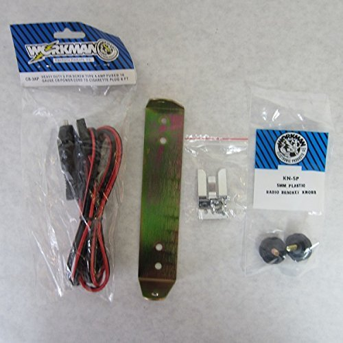 COBRA 25 CB Radio mount bracket kit (power cord, knobs, bracket, mic clip)