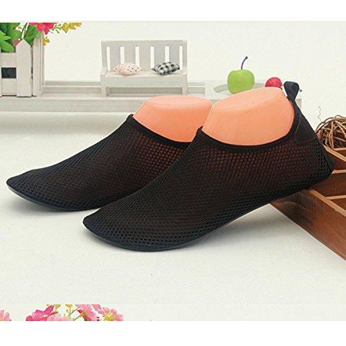 1 Pair Unisex Lightweight Breathable Mesh Barefoot Water Socks Shoes Aqua Skin Socks Flexible for Beach Swim Surf Yoga Exercise Size L ot6RoXay