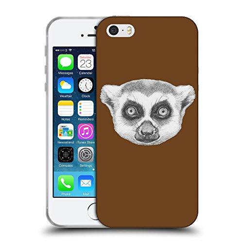 GoGoMobile Coque de Protection TPU Silicone Case pour // Q05390633 Portrait lémurien Sépia // Apple iPhone 5 5S 5G SE