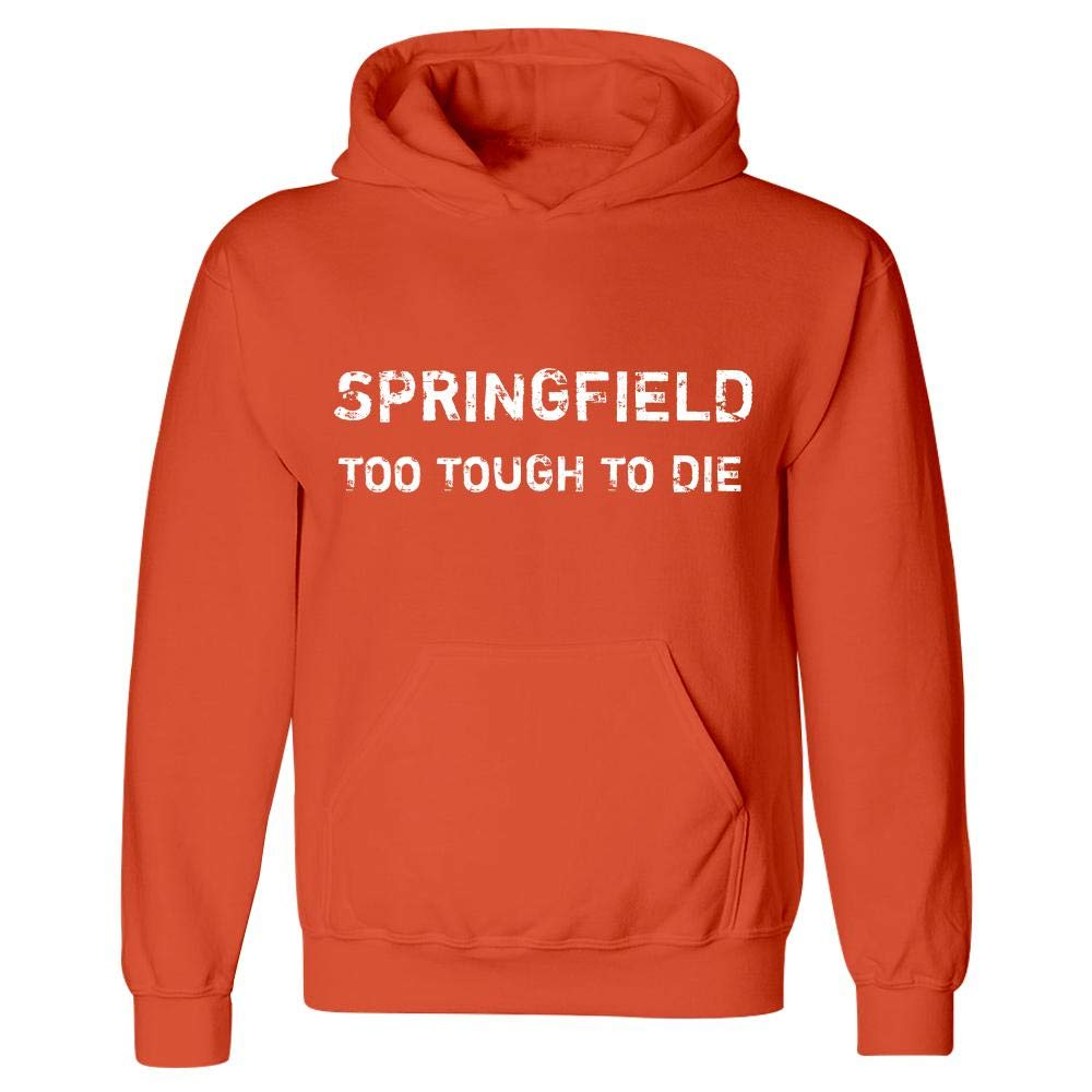 Springfield Too Tough to Die Hoodie Orange