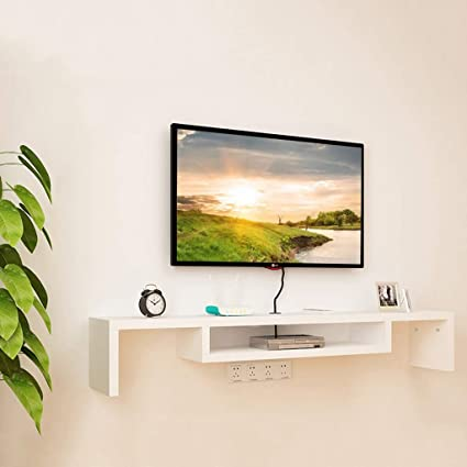 Amazoncom Wall Mounted Tv Cabinet Floating Shelf Bedroom
