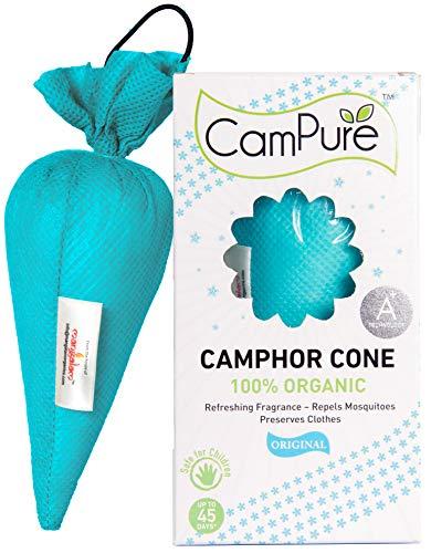 Mangalam CamPure Camphor Cone (Original) – Room, Car and Air Freshener & Mosquito Repellent (Pack Of 2)