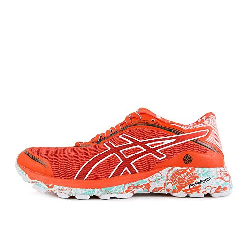 Asics DynaFlyte Tokyo W Mandarin Red White Deep Forest Red