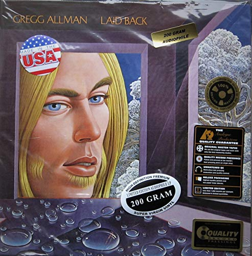 "Gregg Allman "" Laid Back "" REMASTERED 200 Gram Vinyl LP AUDIOPHILE Gate-Fold w/ Stickers as Shown"