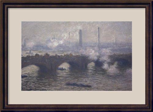 Waterloo Bridge:Gray Day by Claude Monet Framed
