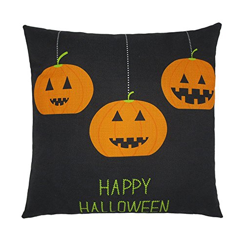 Keepfit Pumpkin Pillow Cases, Halloween Special Home Sofa Decor Cushion Cover Ghosts Cartoon (Halloween F)]()