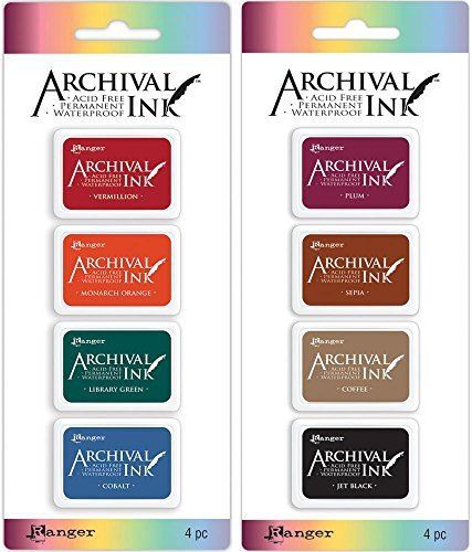 (Ranger Mini Archival Ink Pad Kits #1 & #2 - 2 item Bundle)