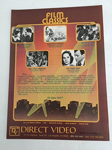 1981 Direct Video Catalog Magazine Print Advertisement Lot of 2