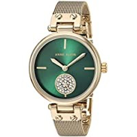 Anne Klein Women's Quartz Metal and Stainless Steel Dress Watch, Color:Gold-Toned