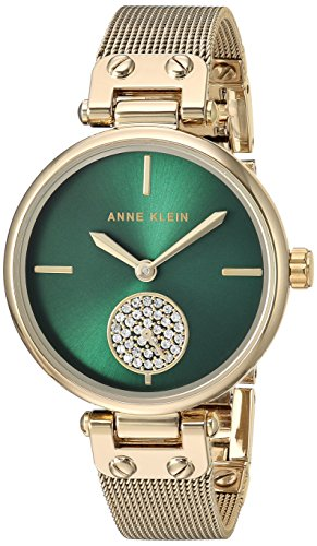 Gold Crystal Color Links Watch (Anne Klein Women's Quartz Metal and Stainless Steel Dress Watch, Color:Gold-Toned)