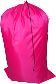 product image for Laundry Bag Heavy Duty Jumbo Sized Nylon Holds Approximately 40 lb Made in USA. (Neon Pink)