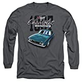 Chevy Blue Classic Camaro Long Sleeve Shirt, Charcoal, Large