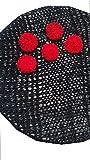 Handmade Red Flower Crochet Sewing Applique 51 Pcs Art And Craft