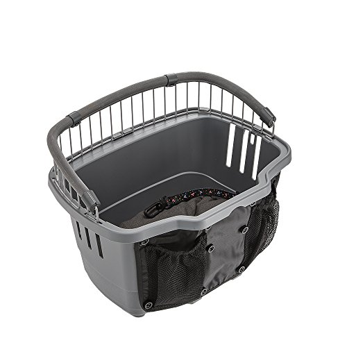Ferplast Atlas Bike 10 Rapid Dog Bike Carrier, 41 x 31 x 31 cm, Grey