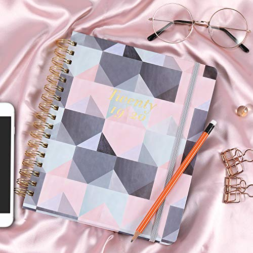 2019-2020 Academic Planner - Weekly & Monthly Planner with Tabs + Luxury Vegan Leather and Thick Paper, Back Pocket with 15 Notes Pages + Gift Box - 8