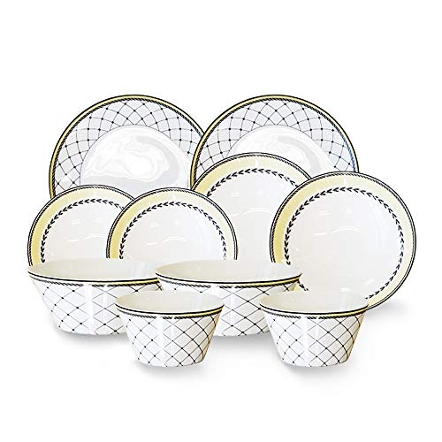 Hankook Chinaware 한국도자기 Korean Fine Bone China Allegro Dinning-ware Home Set for 2 people 10p/Dinnerware/Dojagi