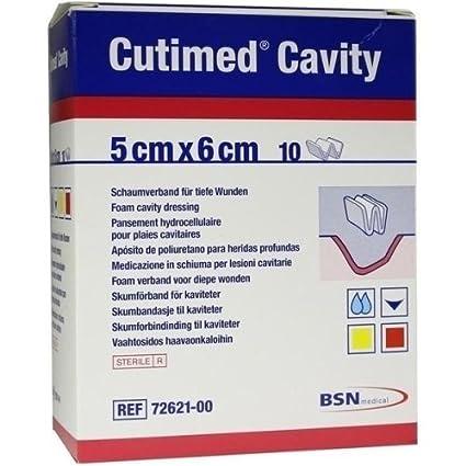 CUTIMED cavidad unidades 5 cm x 6 cm x10 estéril espuma absorbente suave