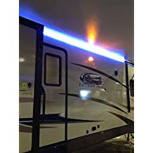 New RV Camper Motorhome Travel Trailer 12' WHITE LED Awning Party Light w/Mounting Channel & Black PCB 12v Light